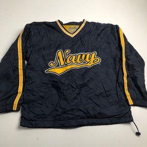 Steve & Barry's Navy Football Fall Jacket Large